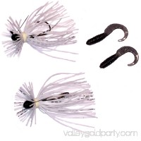 Blitz Lures (2) 1/8 Oz Finesse Spyder Jigs, White and Chrome   556002149