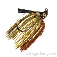 Strike King Lures Hack Attack Heavy Cover Swim Jig 5/0 Hook, 3/8 oz, Green Pumpkin, Per 1   565803544