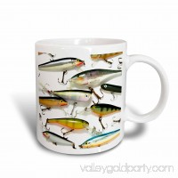 3dRose Fly fishing Lures, Ceramic Mug, 15-ounce   555441627