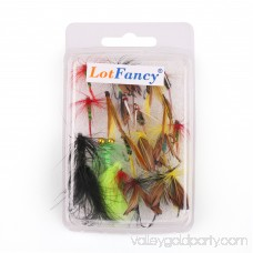 LotFancy 20PCS Dry Wet Flies Fishing - Nymph Flies, Woolly Bugger Flies, Streamers, Caddis Fly Assortment for Trout Bass Salmon