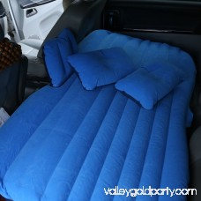 Multifunctional Inflatable Car Mattress, Car Inflation Bed, Travel Air Bed Camping Car Back Seat with Repair Pad,Air Pump For Travel (Blue) With Pillow 570325266
