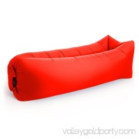 Portable Outdoor Lazy Inflatable Couch Air Sleeping Sofa Lounger Bag Camping Bed (Blue)