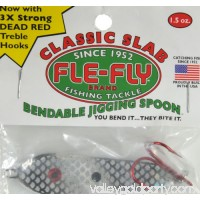 Fle-Fly Classic Slab Jigging Spoon, 1.5 oz, Black   550264194