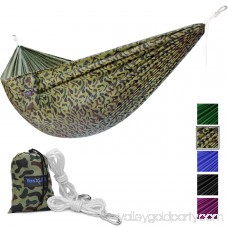 Yes4All Lightweight Double Camping Hammock with Carry Bag (Camouflage) 566637614