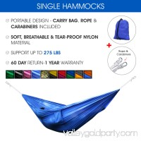 Yes4All Single Lightweight Camping Hammock with Carry Bag (Blue/Orange) 566639048