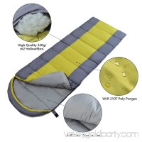 ODOLAND Portable Cold Weather 40F Sleeping Bag Best 3 Season Sleeping Bag w/ Compression Package