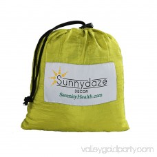 Sunnydaze Outdoor Pocket Blanket for Camping, Picnics, Hiking, and the Beach, Made from Lightweight Nylon, Lime and Charcoal 567147806